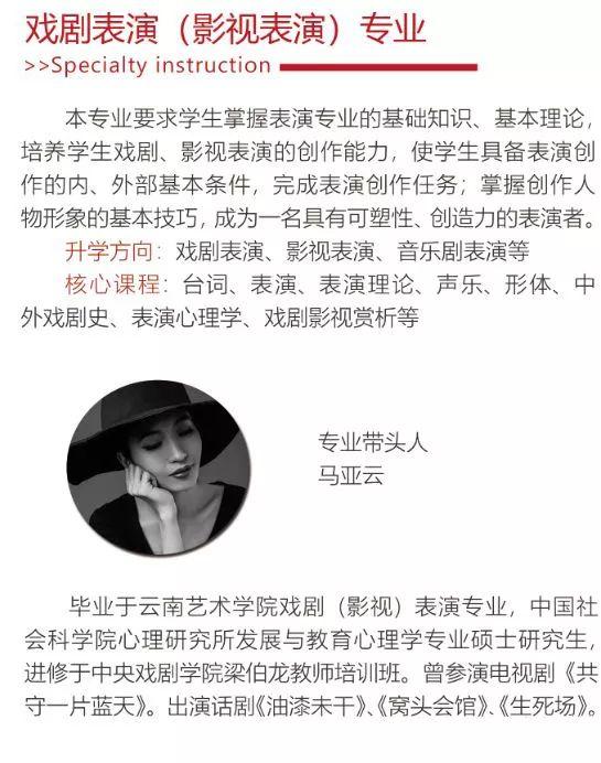 華唐藝術高中戲劇表演,影視表演專業