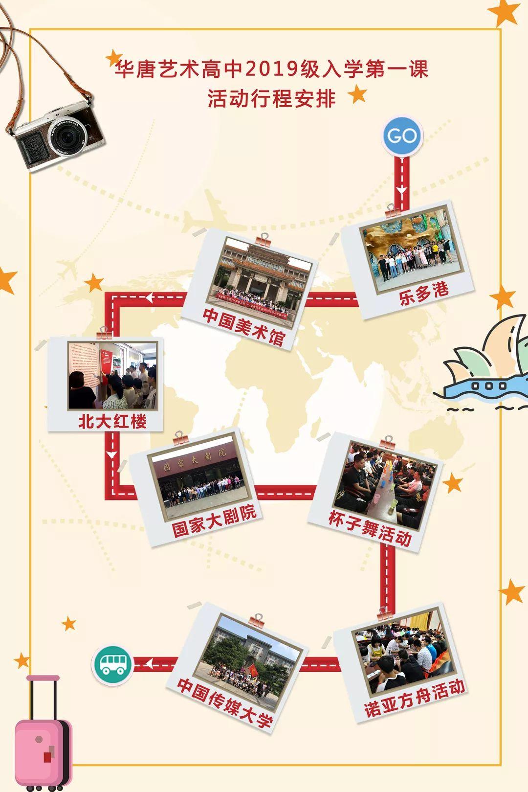 華唐藝術高中2019級入學第一課活動行程安排