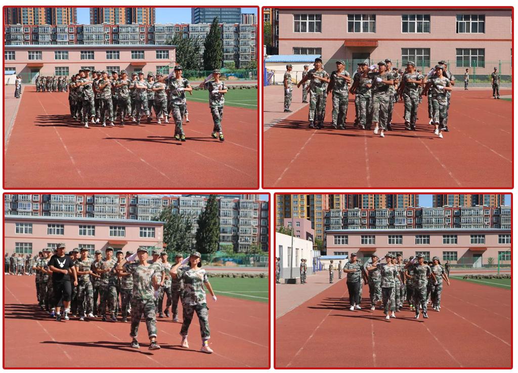 華唐高中軍訓表演